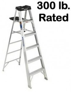 300 lb. rated Werner Aluminum Step Ladder