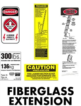 Fiberglass Extension Ladder Safety Labels Bird Ladder
