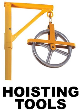 Hoisting Wheel Amp Swivel Head Hoist Arm Bird Ladder