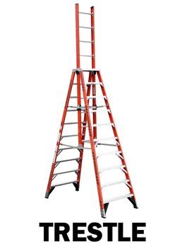 Fiberglass Trestle Ladders