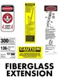 Fiberglass Extension Ladder Safety Labels