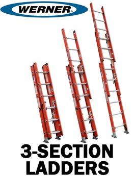 3 section fiberglass extension ladders bird ladder. Black Bedroom Furniture Sets. Home Design Ideas