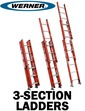 3-Section Fiberglass Extension Ladders